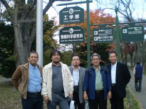 Foto bersama di Hokaido Univ Yanuar, Nandy, Nasrud, Iman, harun.