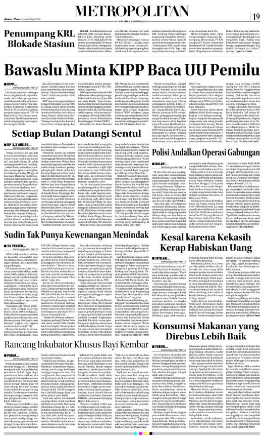 Koran Metro hal lanjutan...