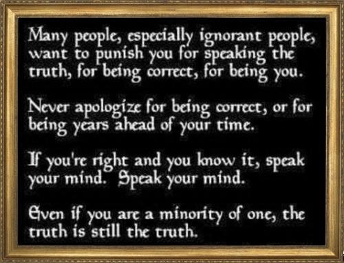 Being the truth